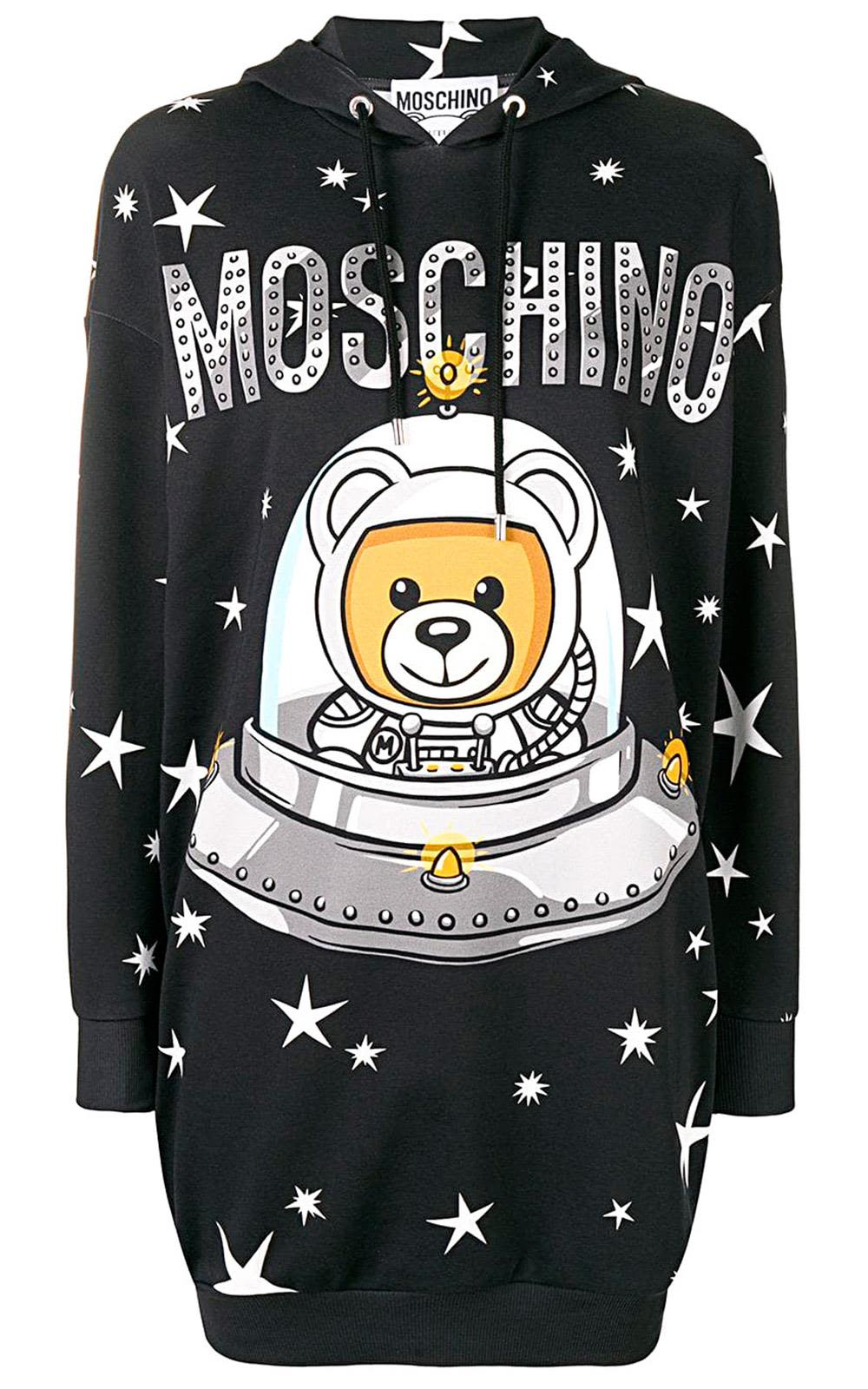 Moschino Cottons TEDDY UFO COTTON-JERSEY HOODIE