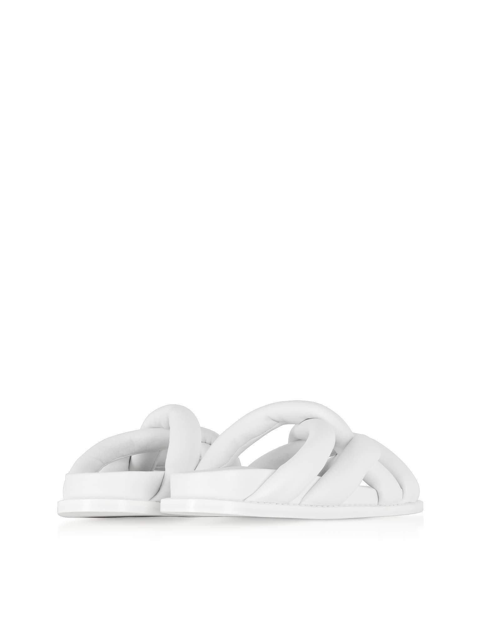 Proenza Schouler Shoes, Optic Suede Flat Sandals
