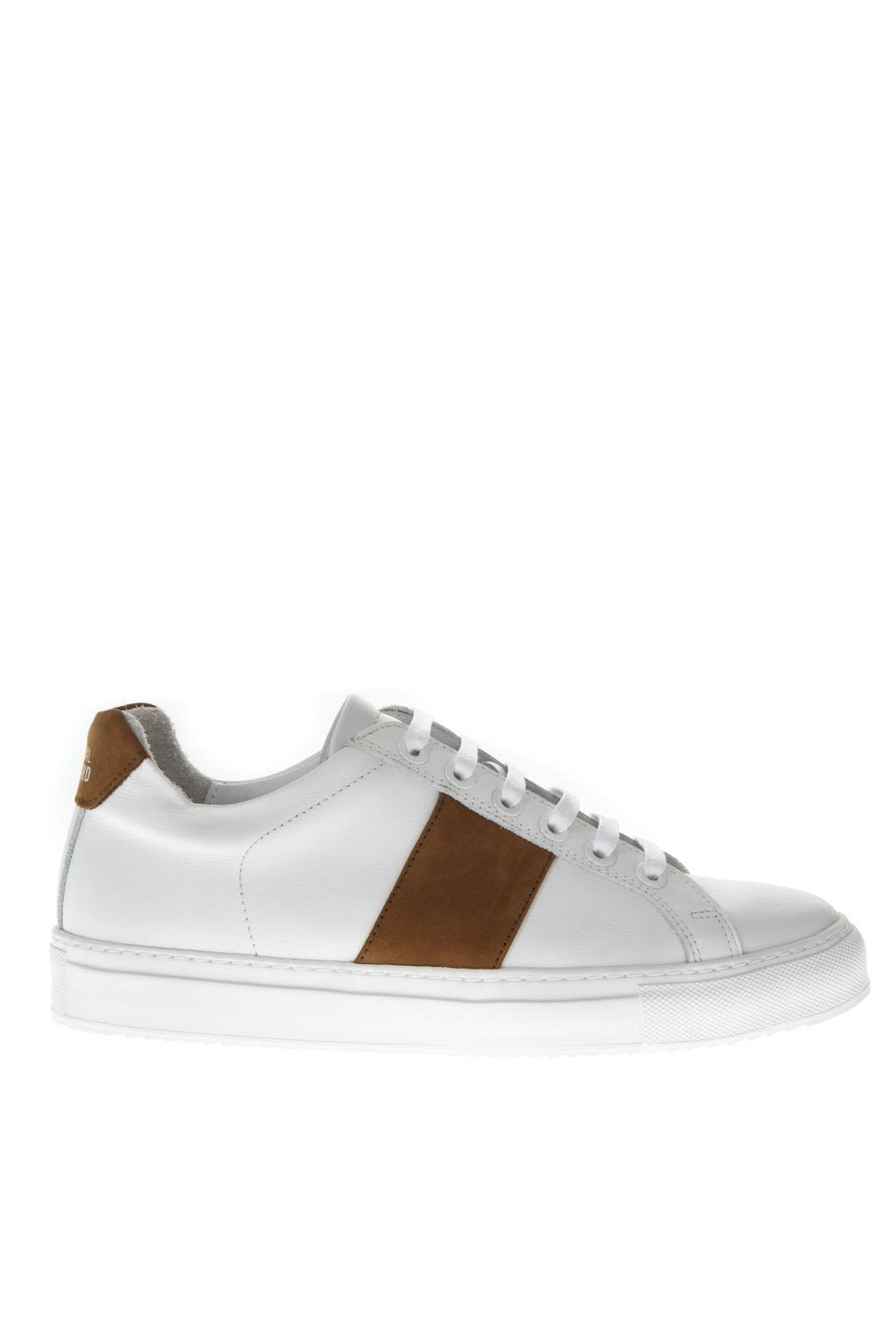 NATIONAL STANDARD 4 Edition White Leather Sneakers in Black