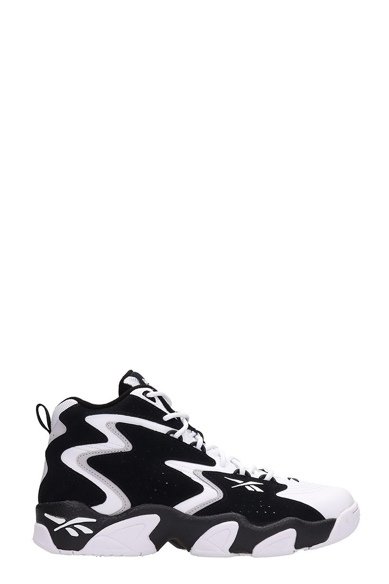 Reebok MOBLUS BLACK/WHITE SUEDE AND LEATHER SNEAKERS