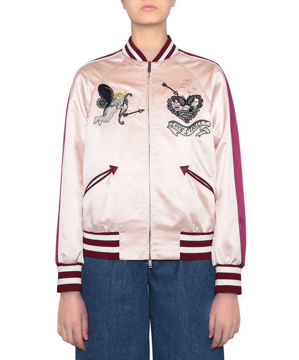 Valentino Love Blades Silk Souvenir Jacket 8964131