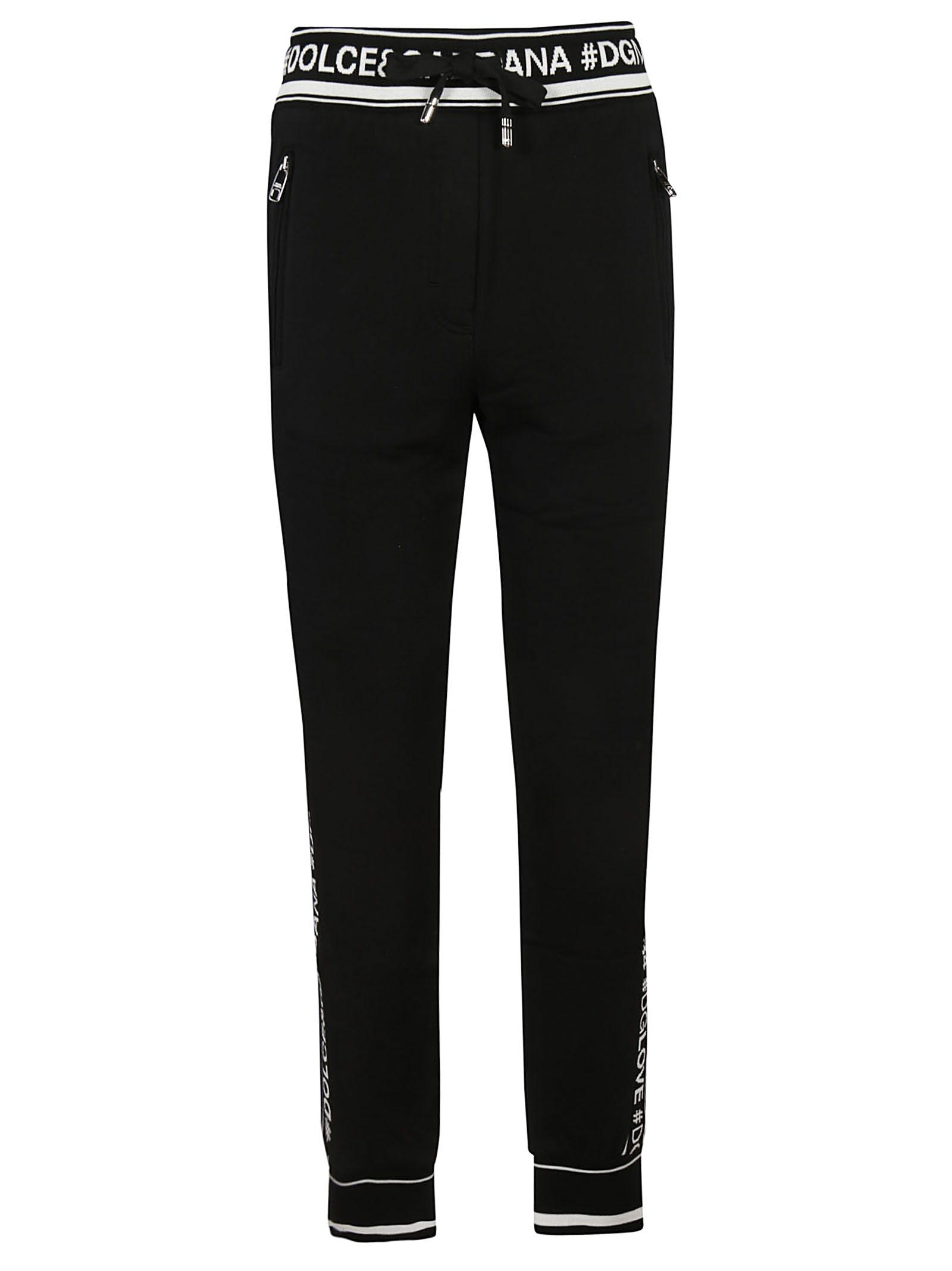 c5a83a4e5da7 Dolce   Gabbana Logo-Striped Cotton French Terry Sweatpants - Black Size 40  It
