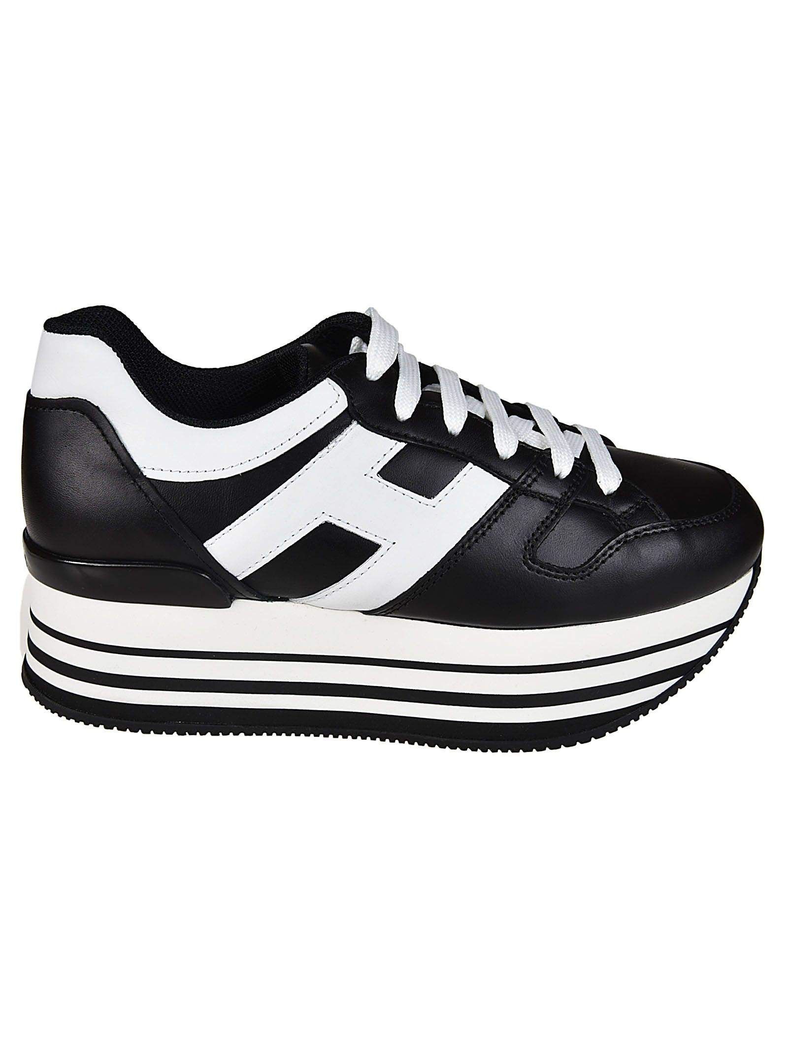 logo embellished platform sneakers - Black Hogan