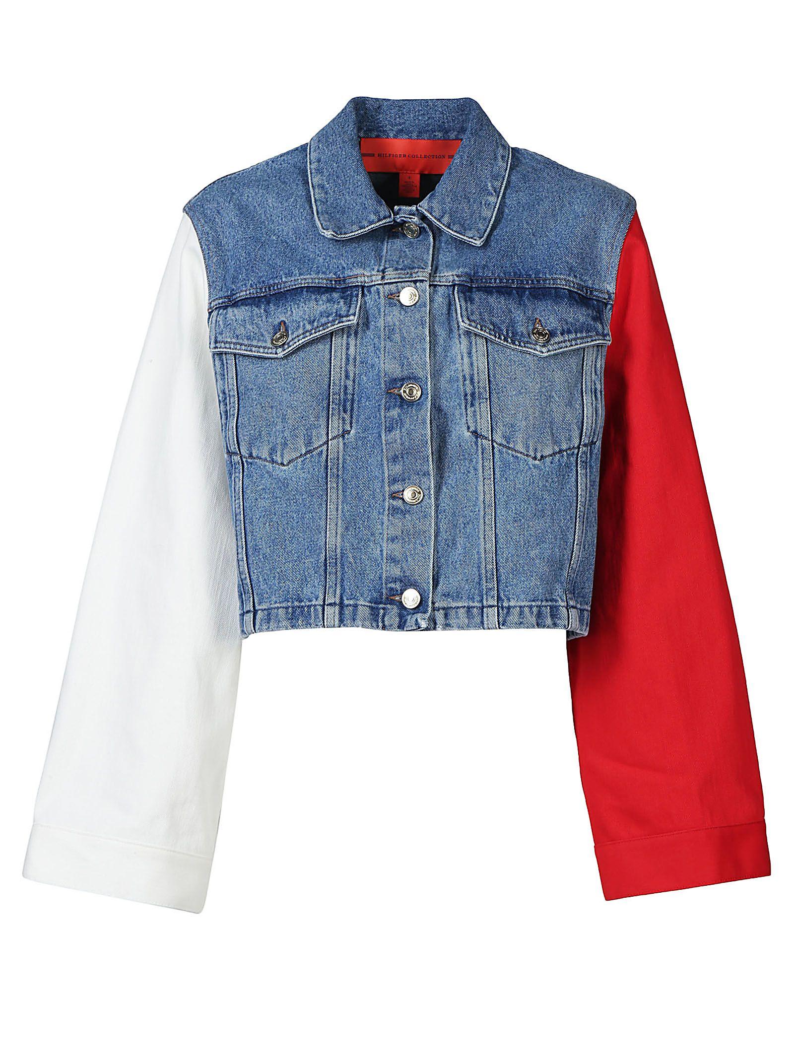 tommy hilfiger tommy hilfiger denim jacket vintage wash multi women 39 s jackets italist. Black Bedroom Furniture Sets. Home Design Ideas