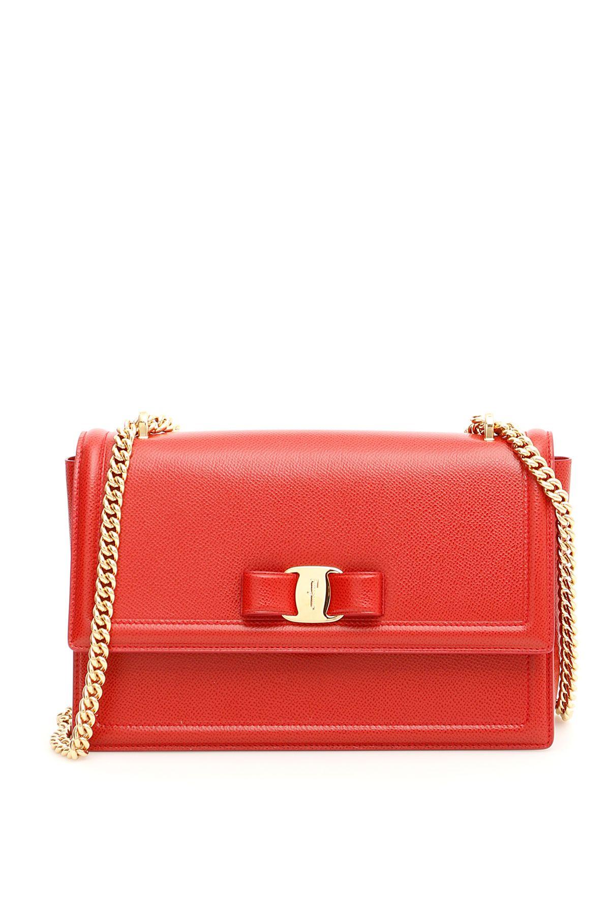 Salvatore Ferragamo Ginny Crossbody Bag In Redrosso  b6bd3f6de0e19
