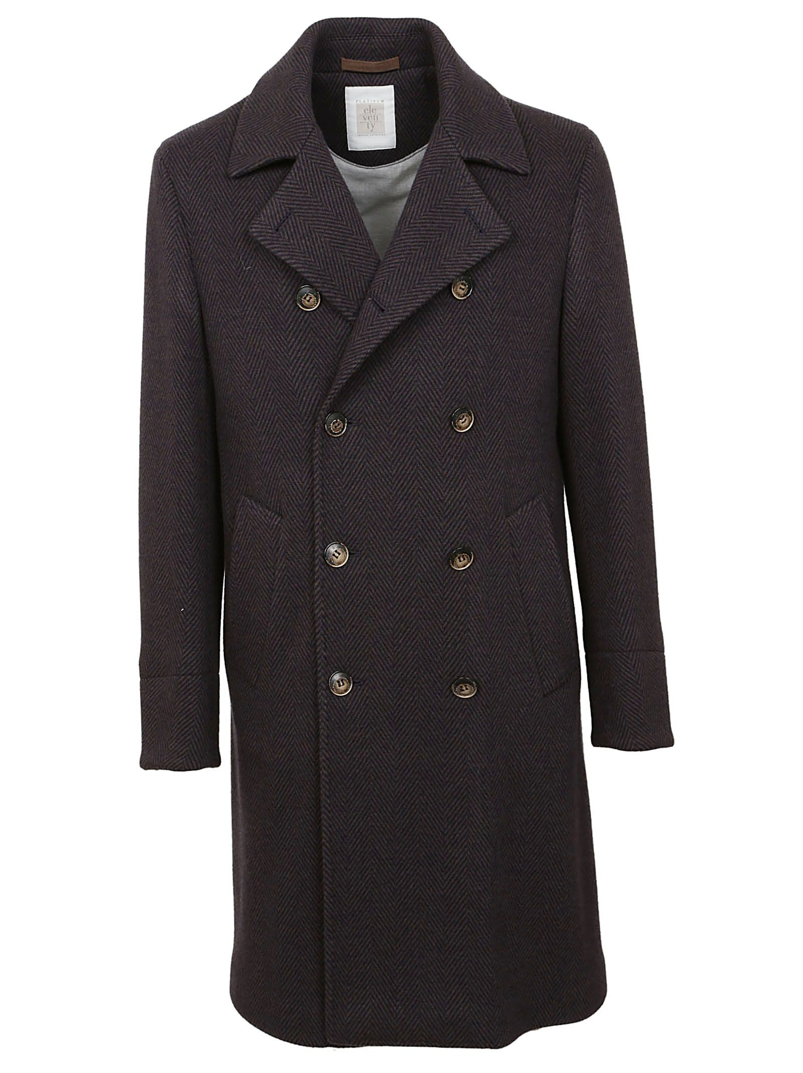 ELEVENTY DOUBLE BREASTED COAT