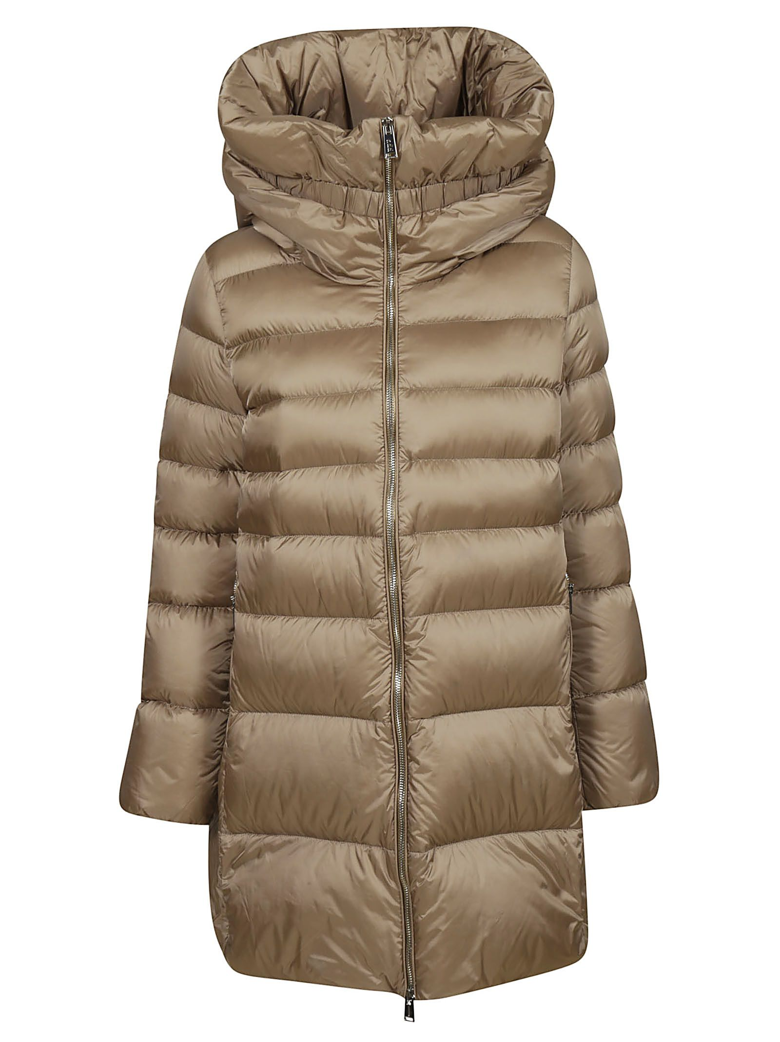 ADD Zipped-Up Padded Jacket in Champagne