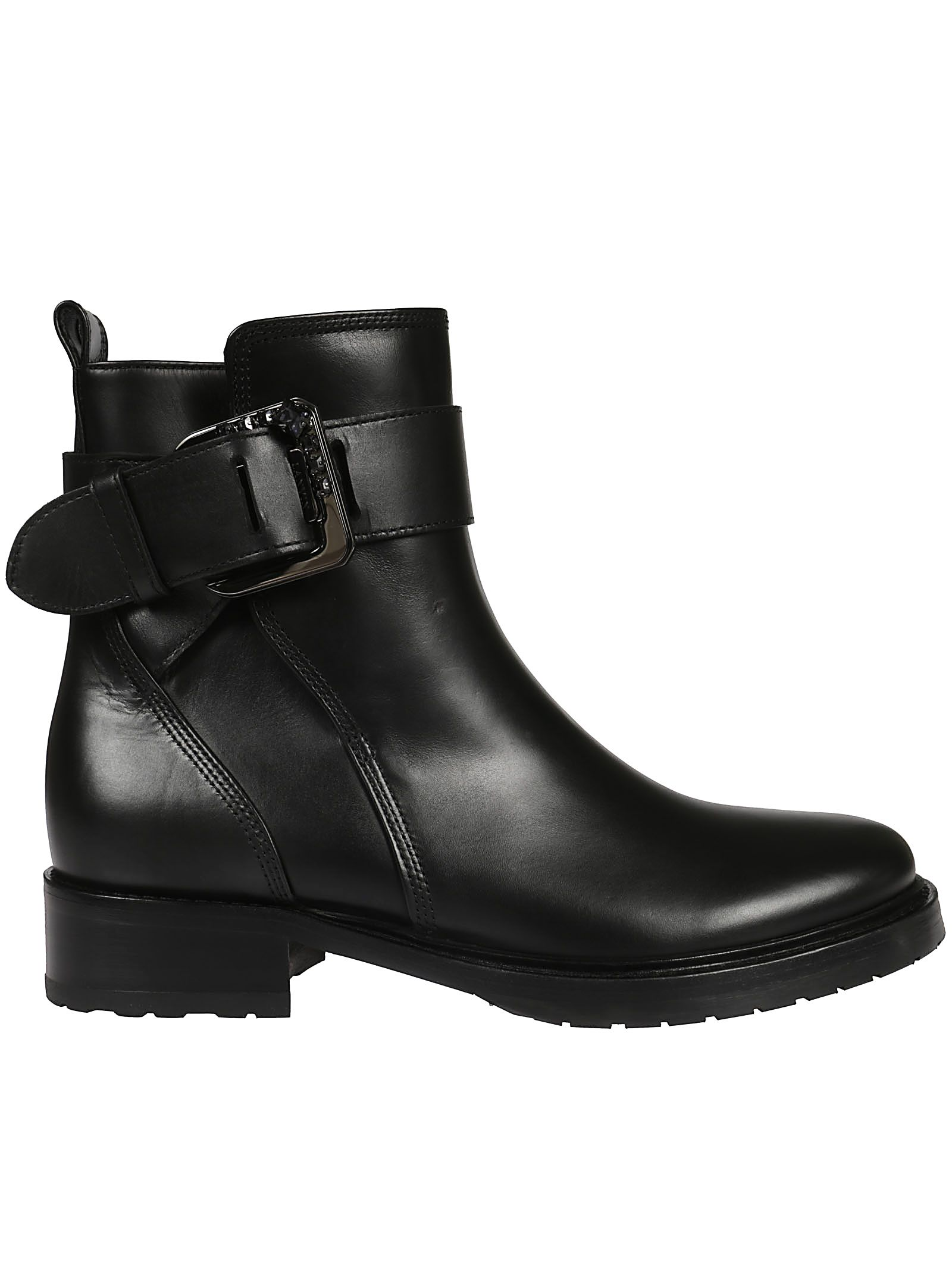 SQUARE BUCKLE BIKER BOOTS