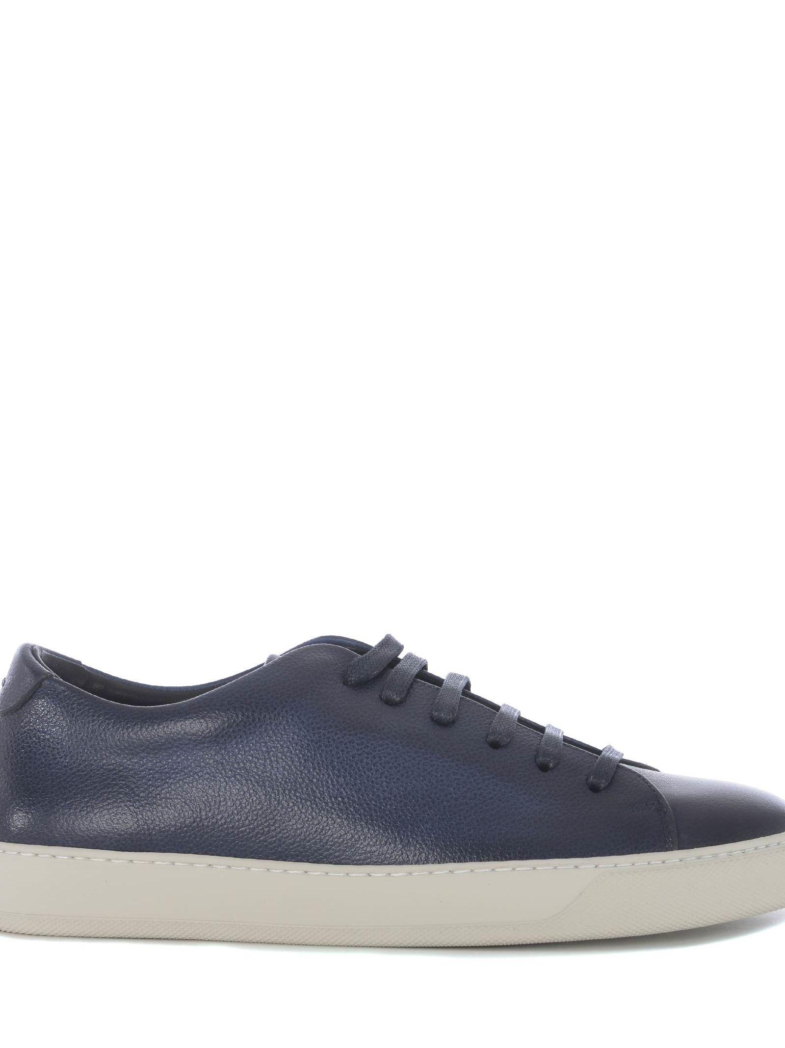 ANDREA ZORI Low-Top Sneakers in Blu Scuro