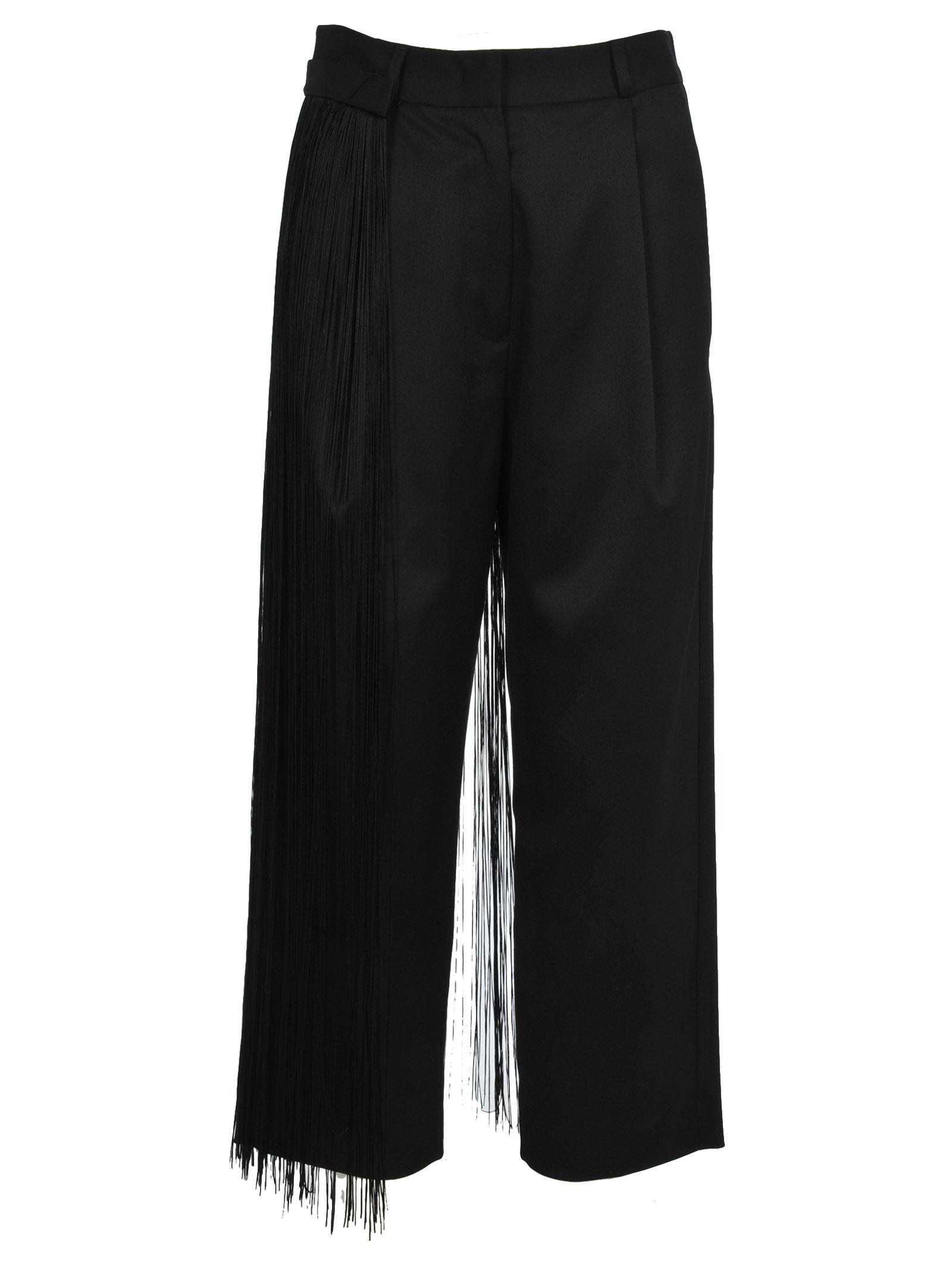 Mm6 Pants Fringe, Black