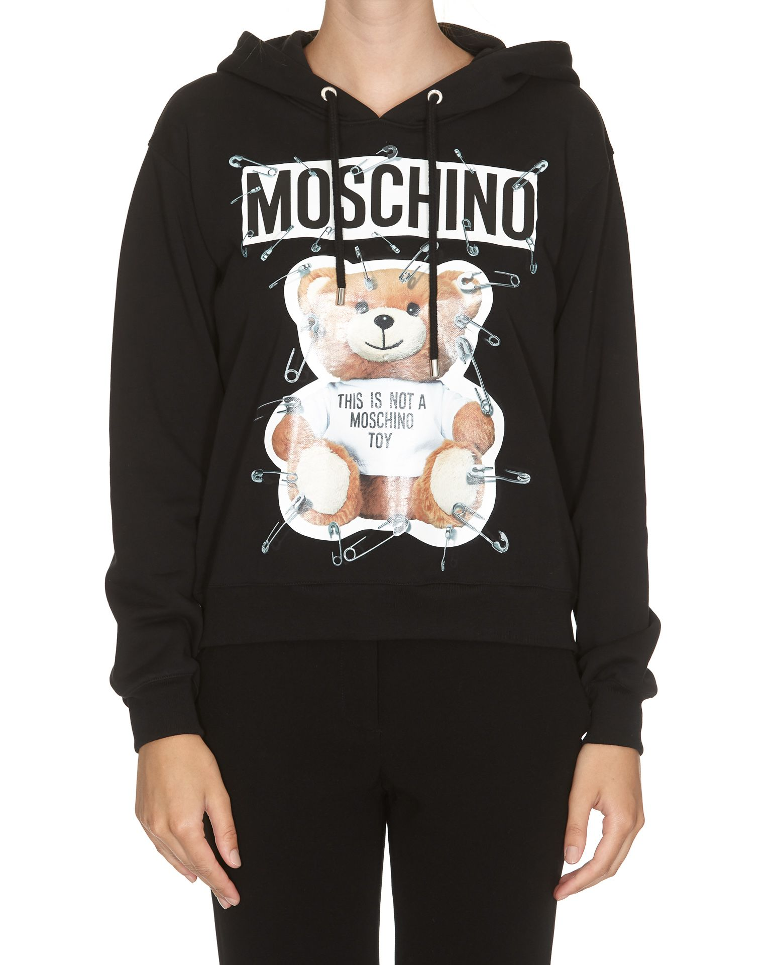 Moschino Cottons SAFETY PIN TEDDY HOODIE