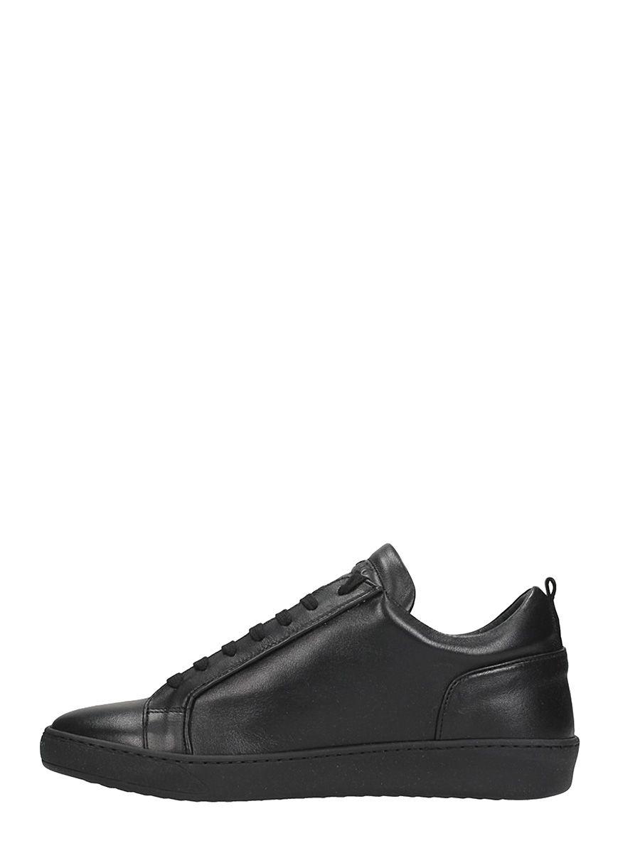 Chaussures Ylati Amalfi Baskets En Cuir Noir 2zZPA5emW