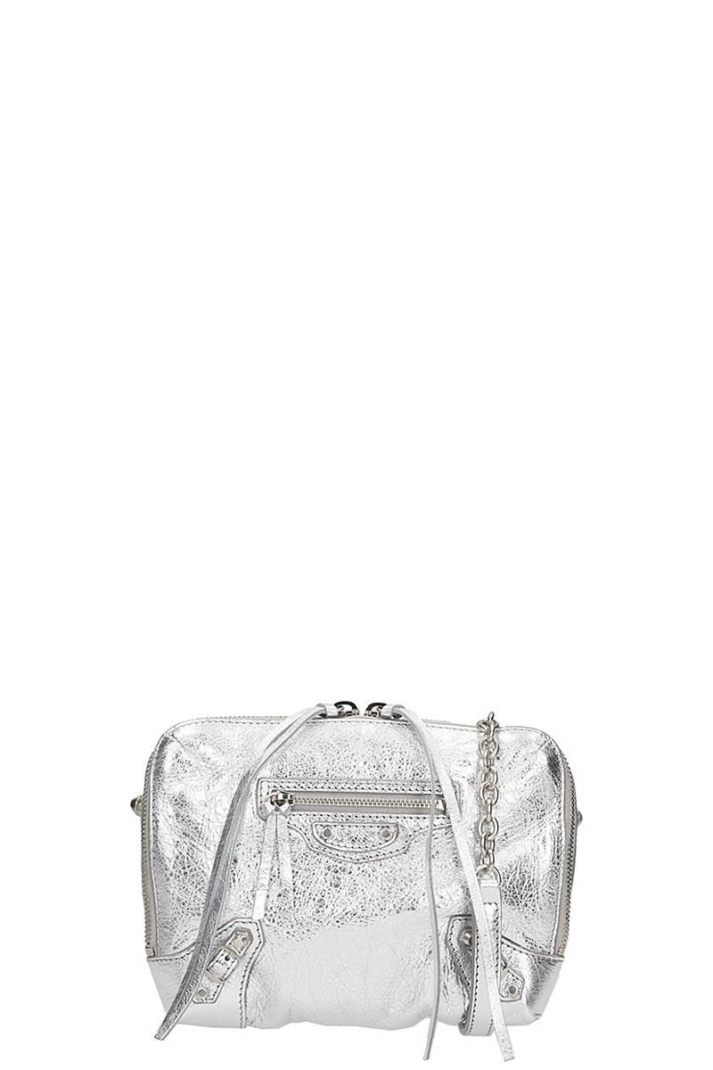 BALENCIAGA REPORTER XS CHAIN LEATHER SHOULDER BAG