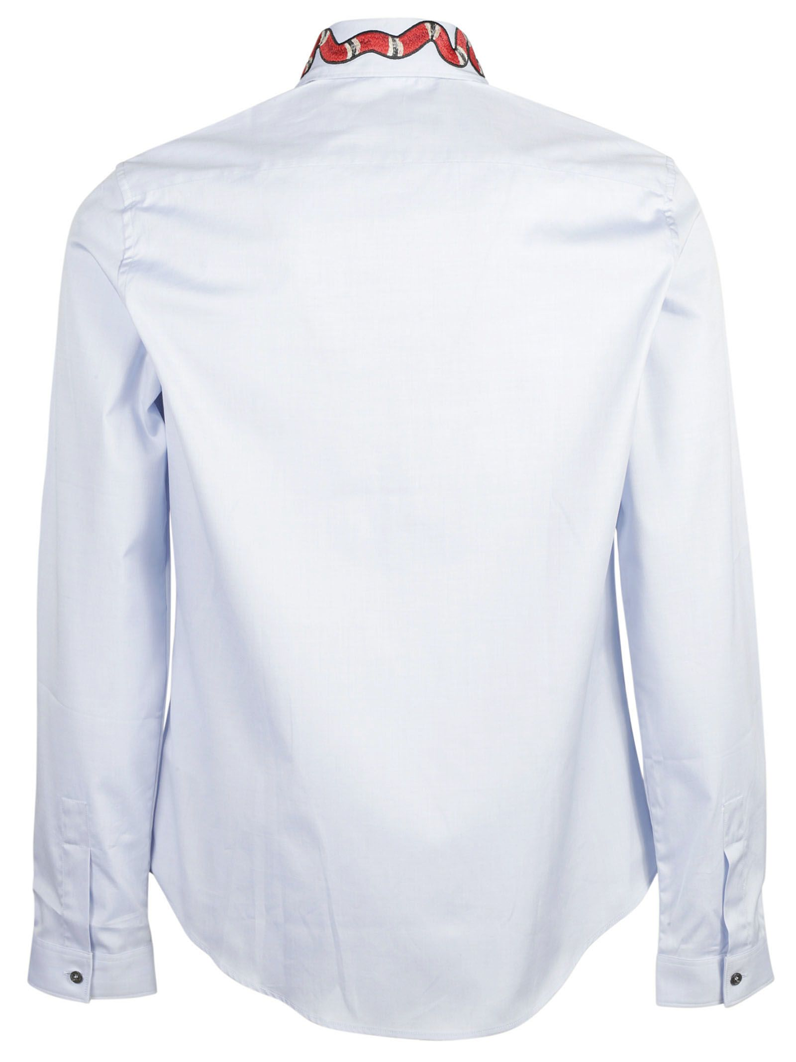 Gucci Gucci Snake Patch Shirt Baby Blue Men s Shirts