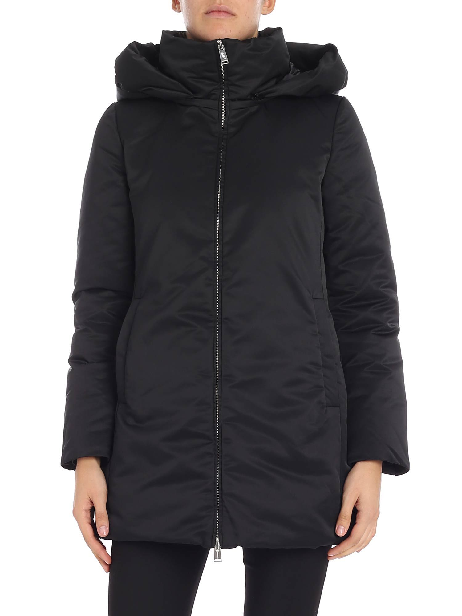 ADD Add Detachable Hood Jacket in Black