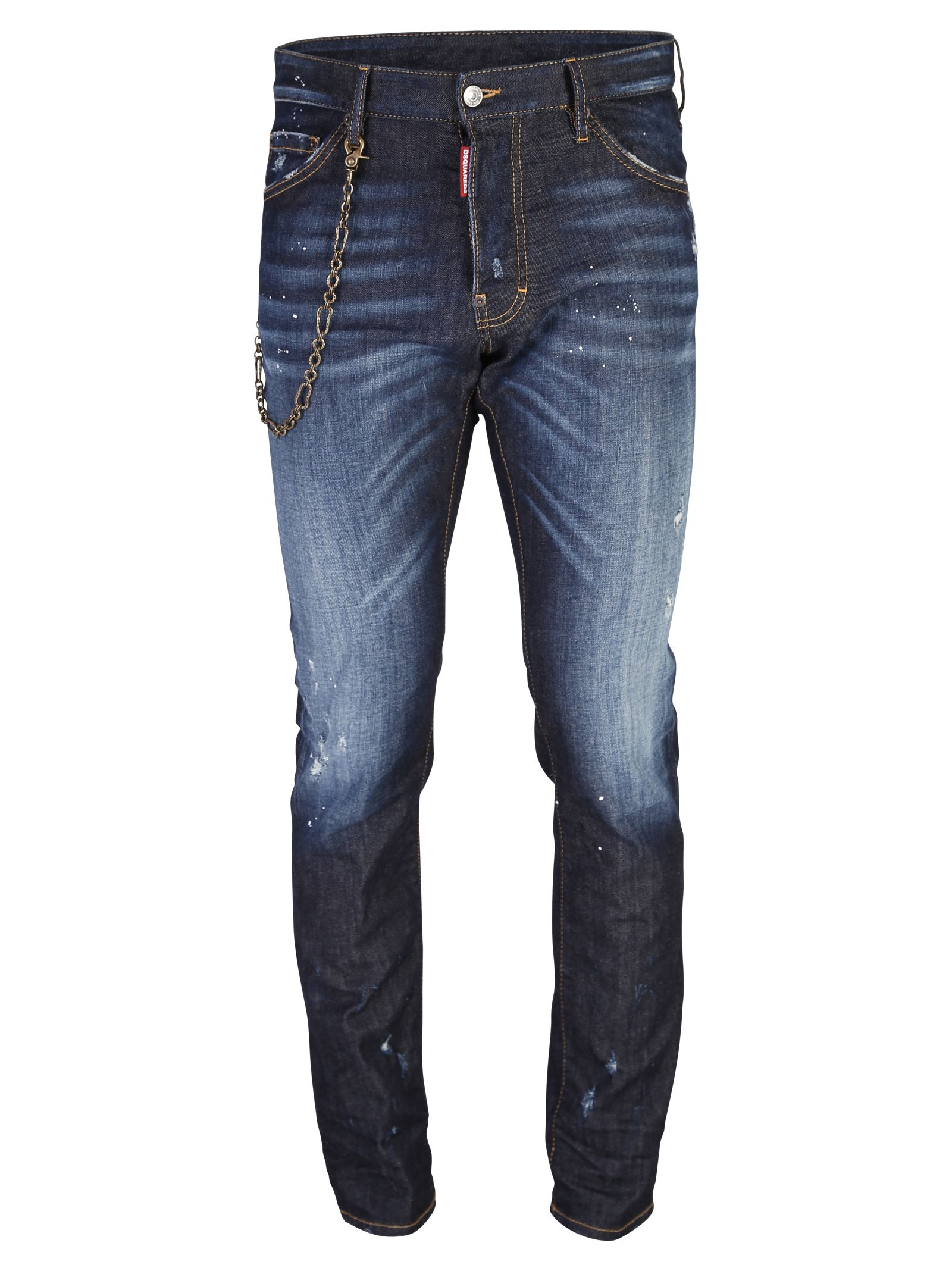 Blue Distressed Jeans 10557027
