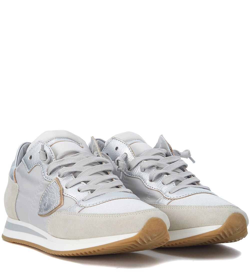 Top Quality Cheap Price Philippe model Tropez Mondial Beige And Silver Sneaker Manchester Great Sale Cheap Online Free Shipping Best Sale Drop Shipping Cheap Ebay G3NFoXRa5o