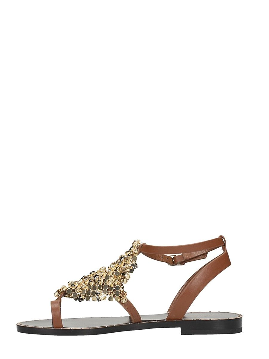Discount Websites Lola Cruz Metallic Mesh Toe Ring Sandals Clearance Factory Outlet Cheap Usa Stockist Sale Inexpensive 7P6Vx
