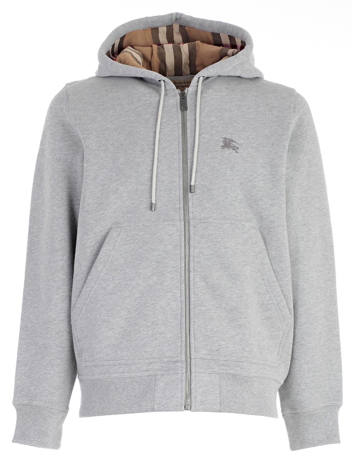 burberry hoodie mens grey