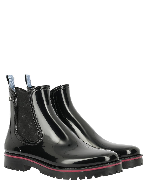 TRUSSARDI Rubber Boots in Black