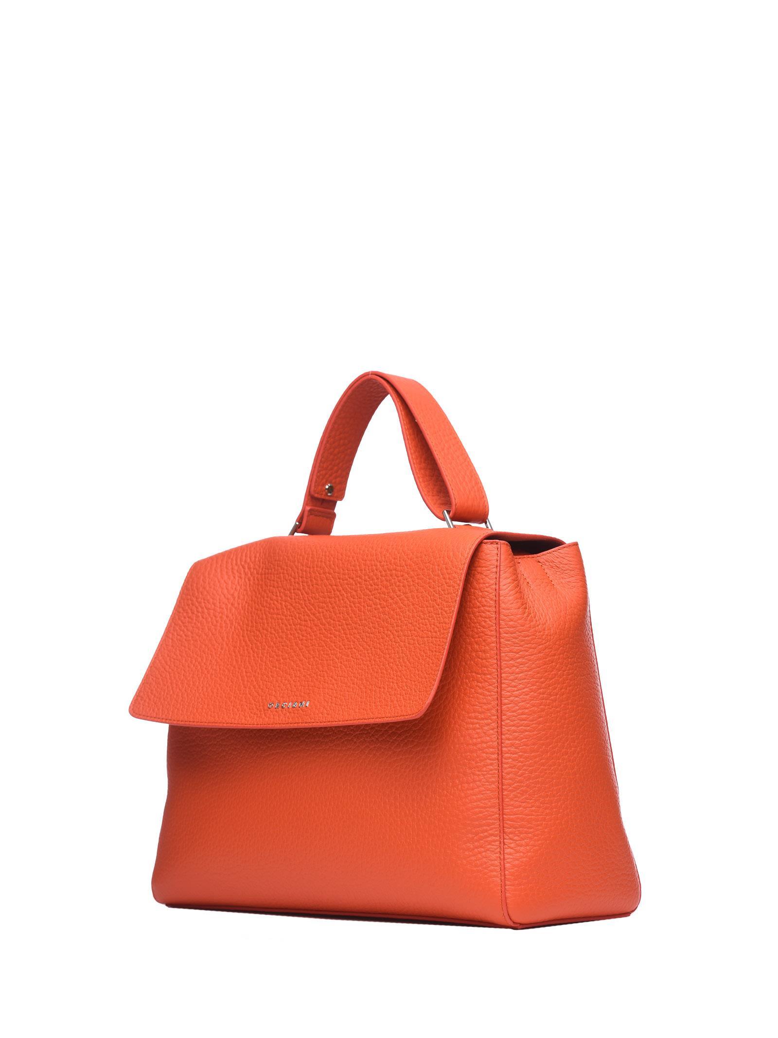 Shoulder Bag for Women On Sale, Orange, Leather, 2017, one size Orciani