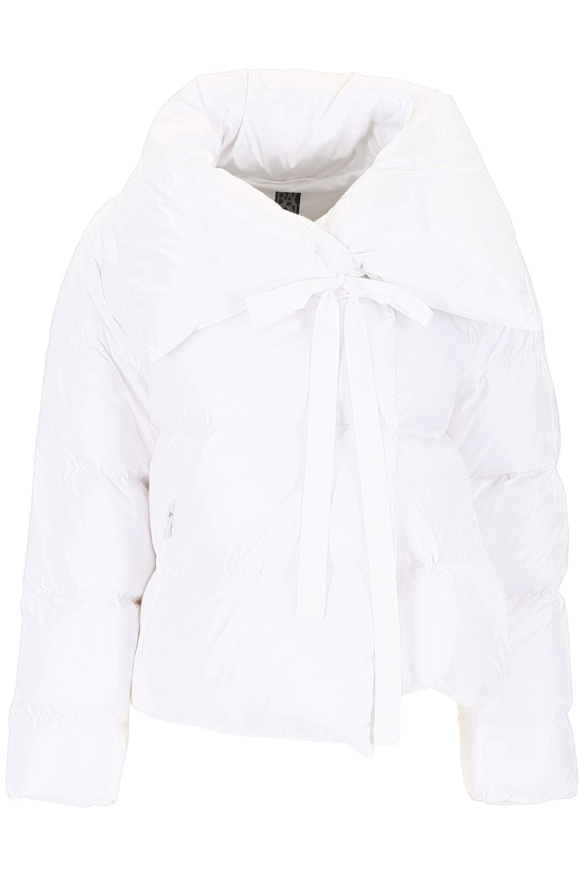 BACON CLOTHING Puffer Jacket With Bow in White