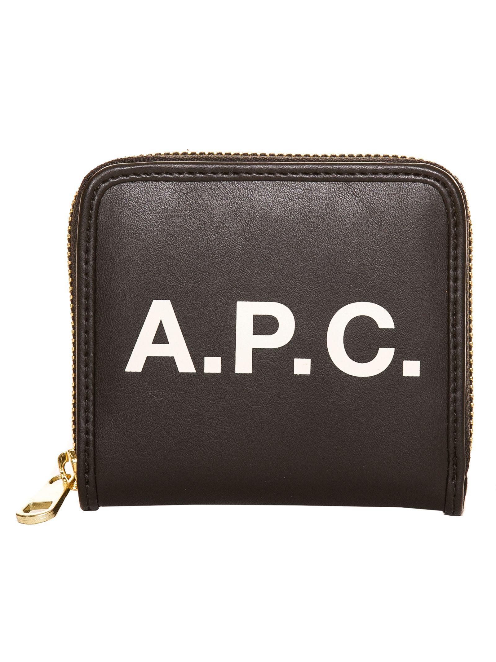 A.P.C. Morgane Compact Wallet, Nero