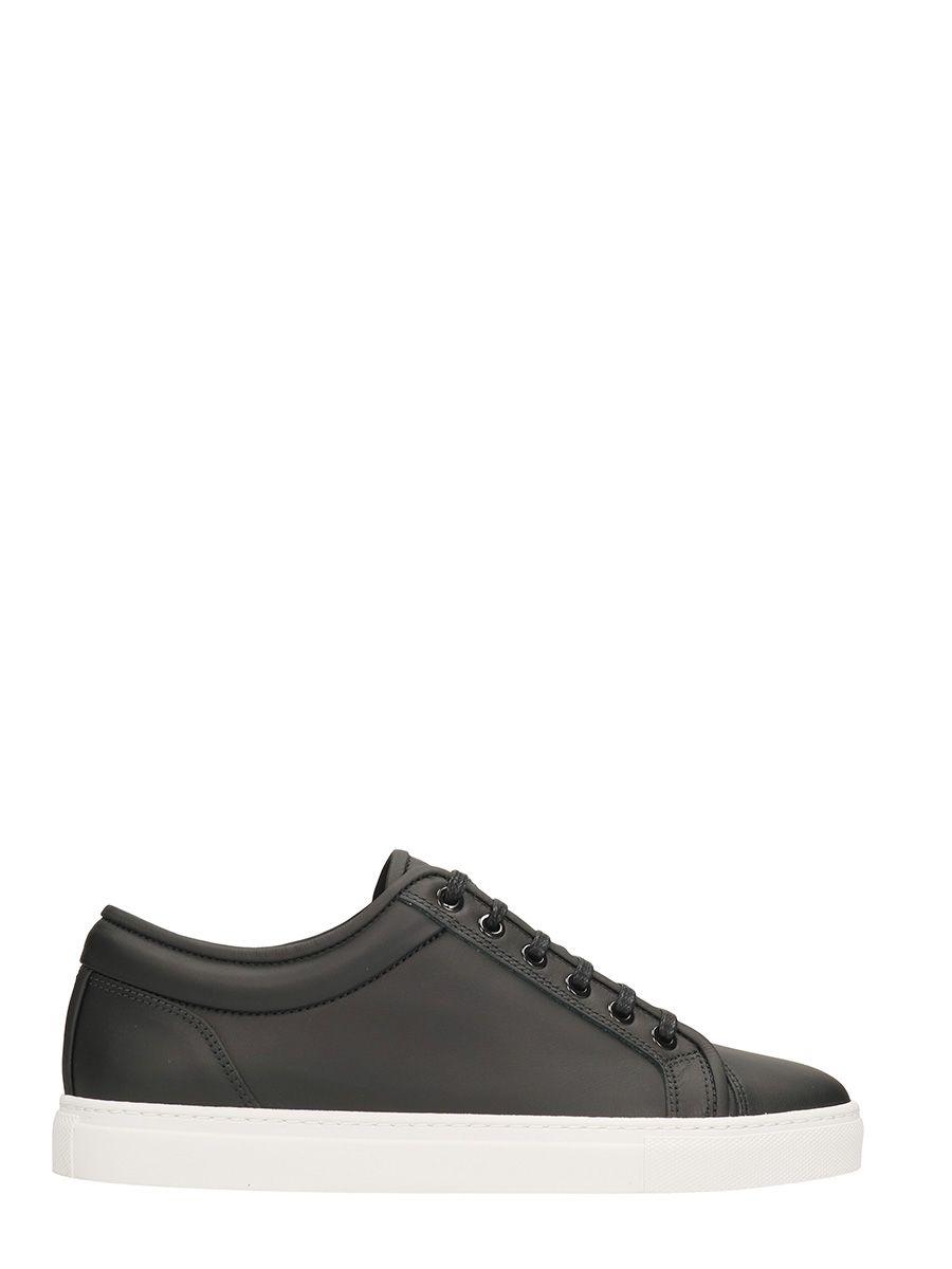 Etq Bas 1 Chaussures De Sport En Cuir Noir pOZ33XB