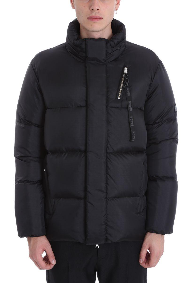 BACON CLOTHING Black Nylon Down Jacket