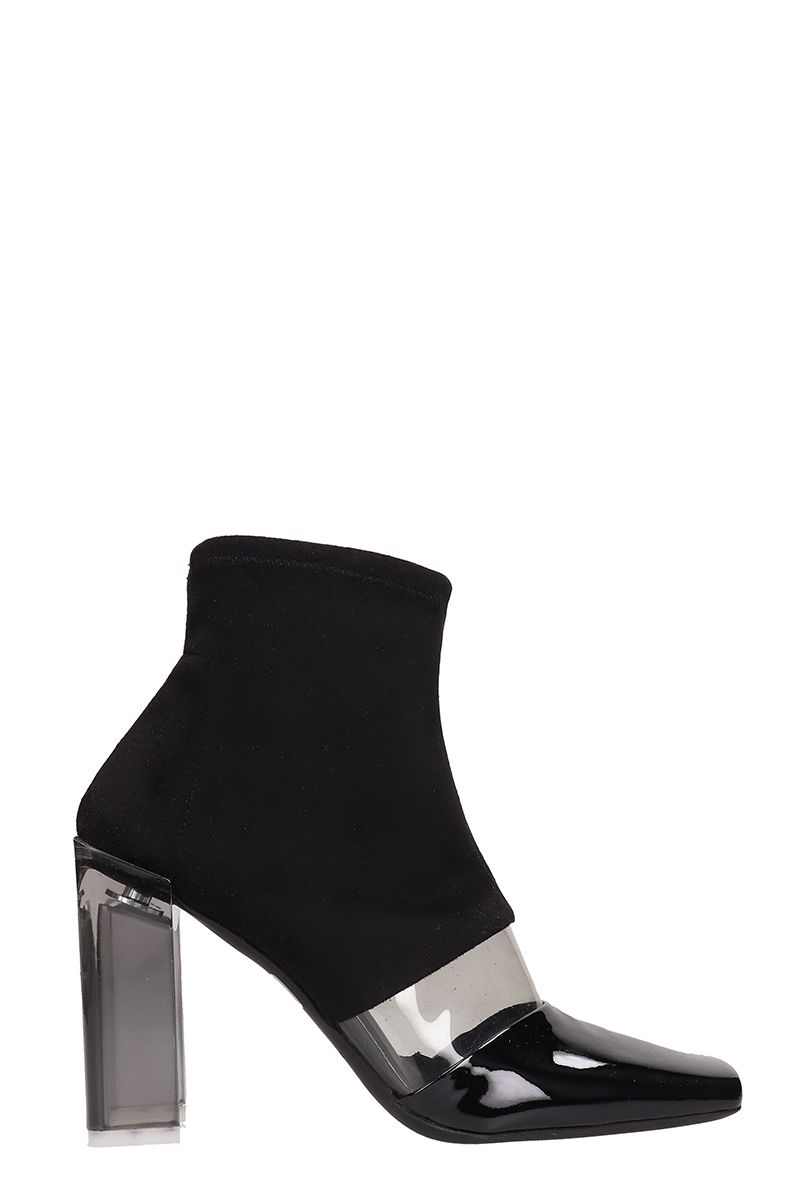 ARCOSANTI Black Suede Ankle Boots