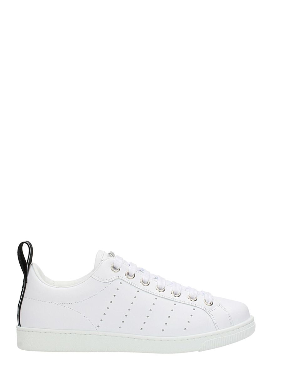 Dsquared2 Leathers WHITE LEATHER SNEAKERS
