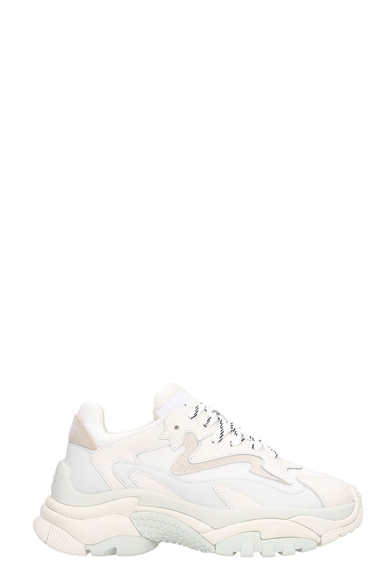 ash -  Addict 2 Trainers White Leather And Mesh