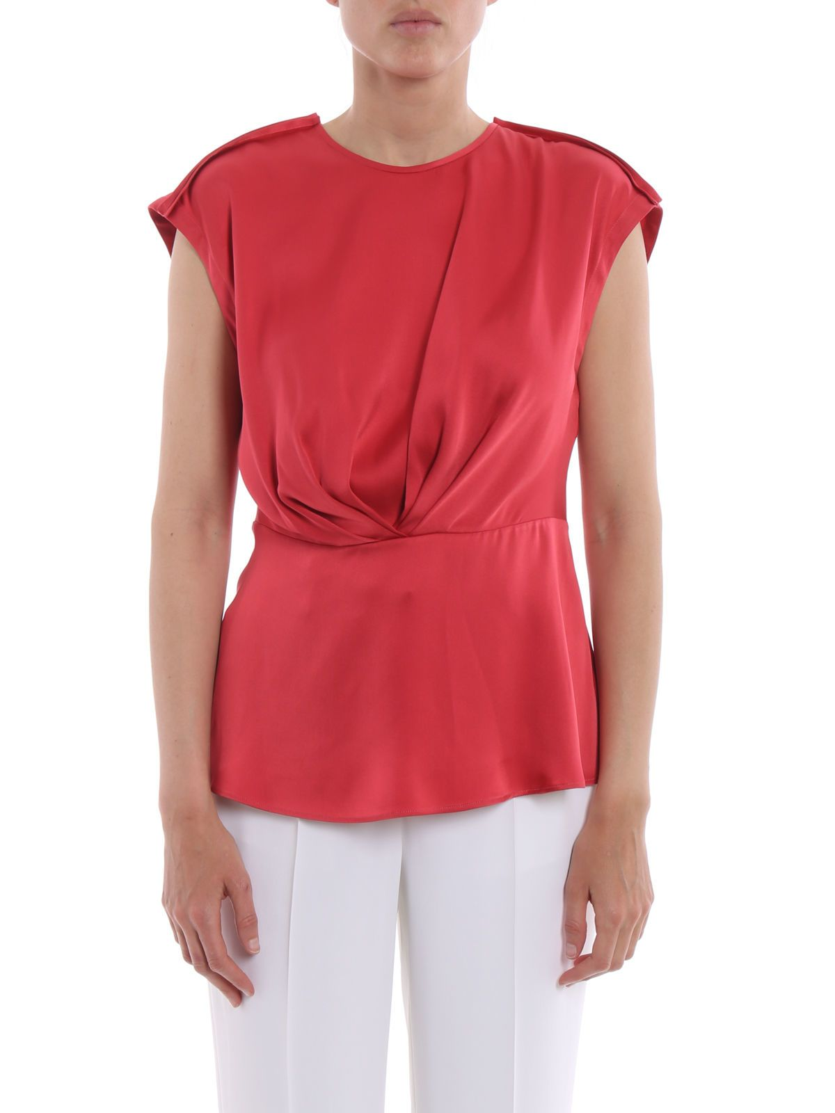 sleeveless ruched blouse - Pink & Purple Giorgio Armani Many Styles ySRLAltHGl