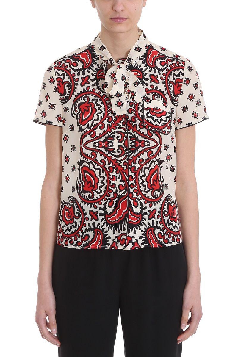Bandana print shirt Red Valentino Outlet Very Cheap 9pFKwY