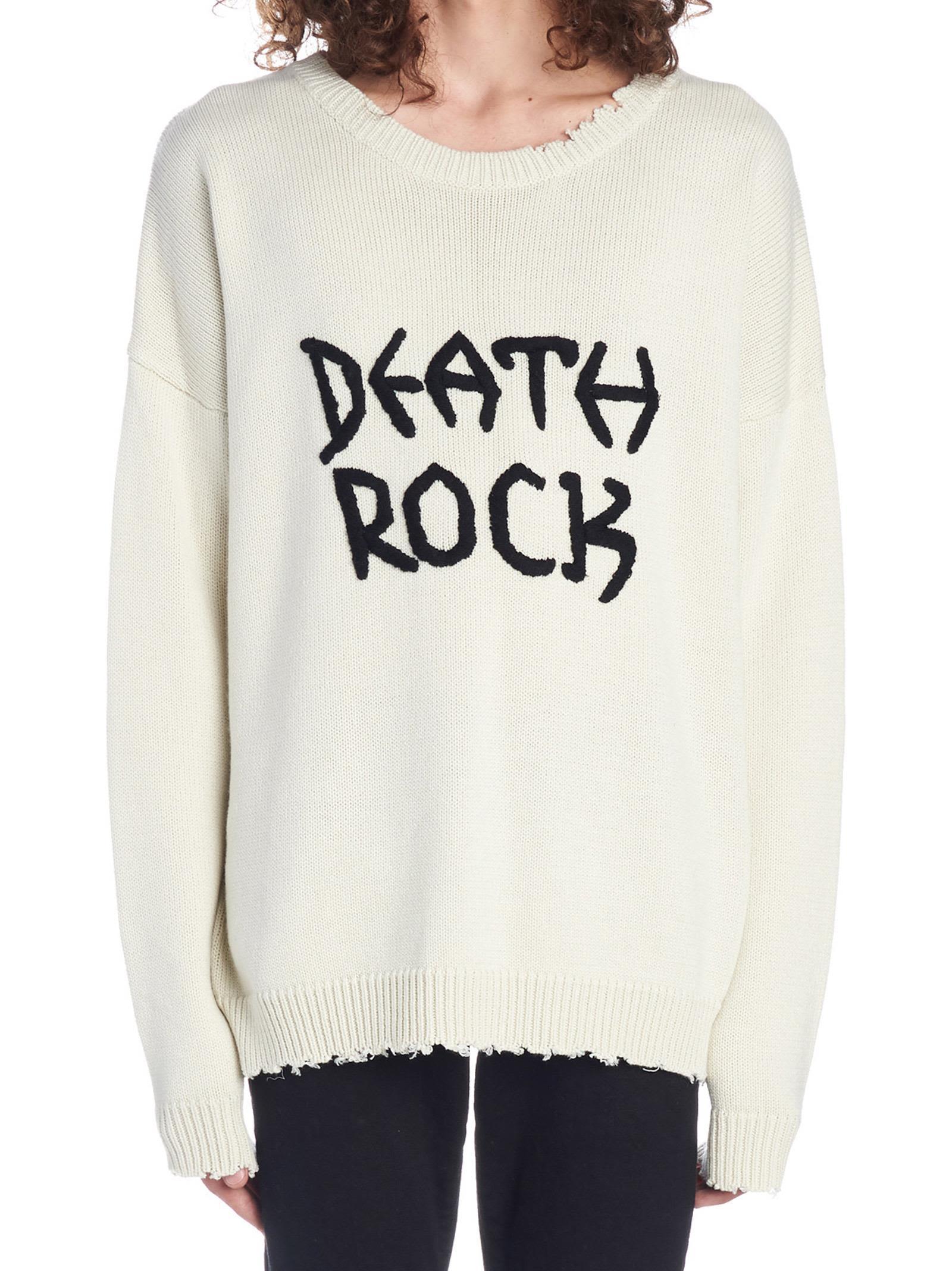 GARCONS INFIDELES 'Death Rock' Sweater in Beige