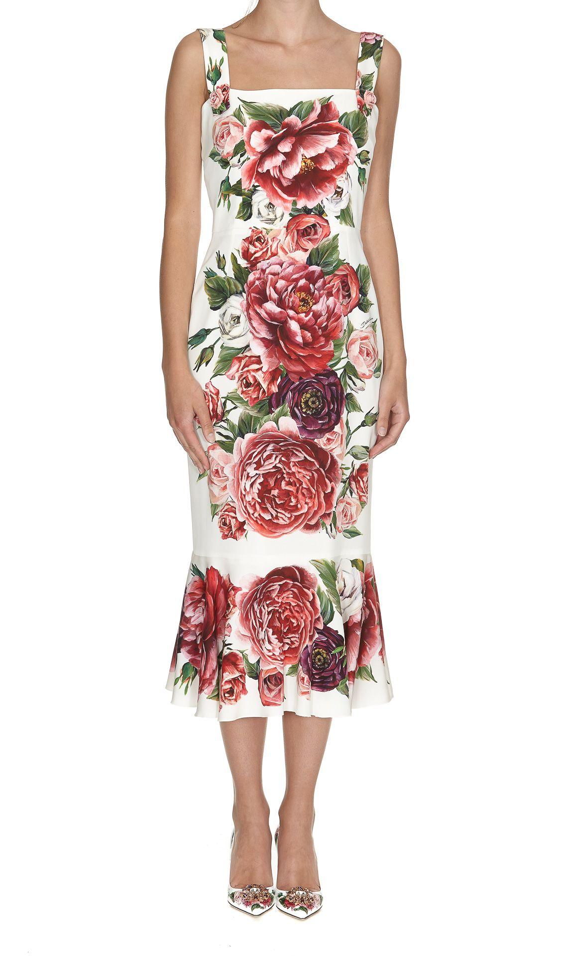 Dolce & Gabbana Peonies Print Dress thumbnail