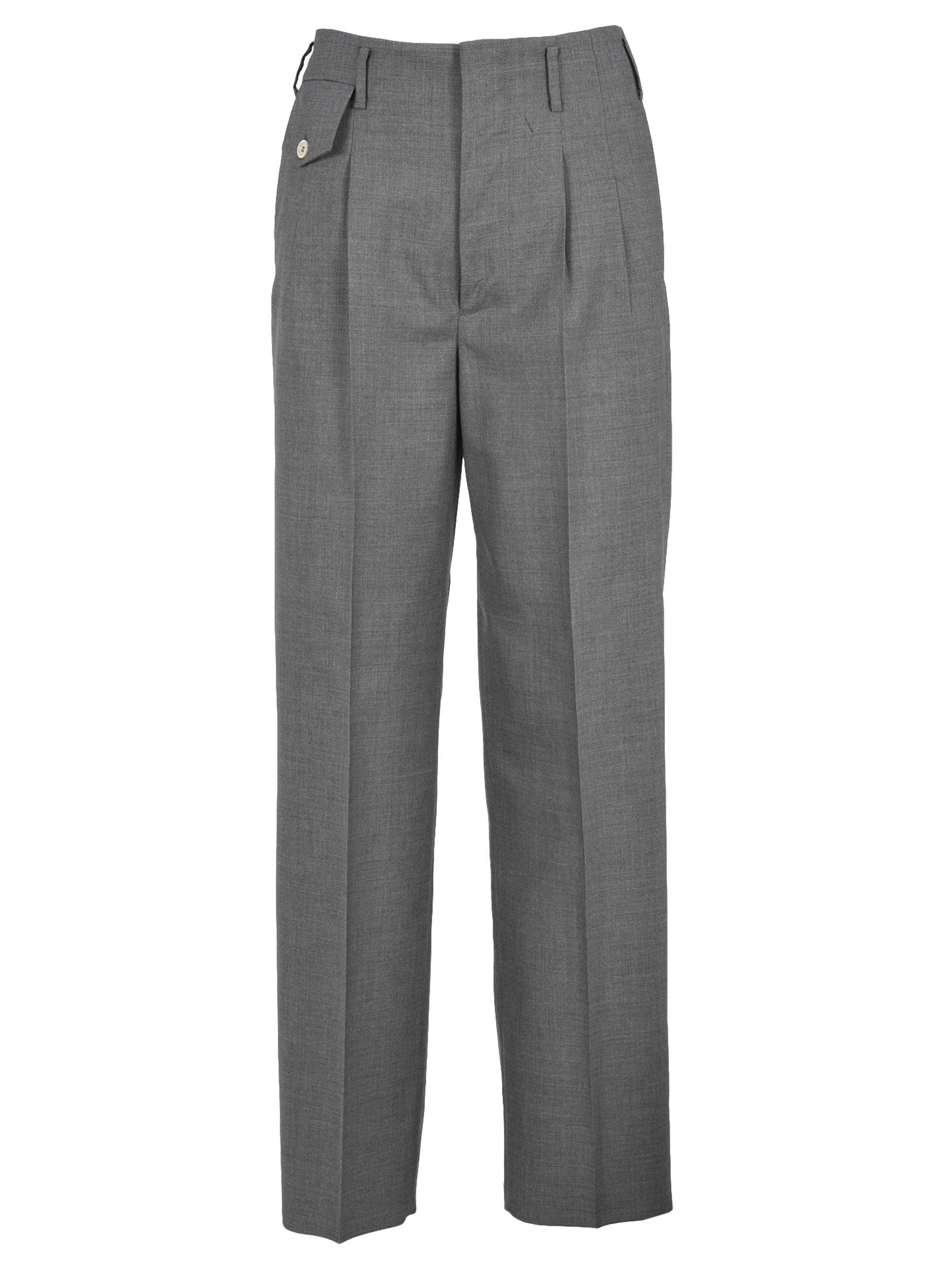 High Waisted Trousers in Grey