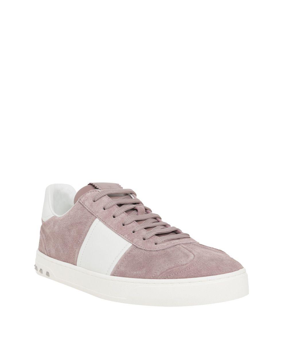 valentino garavani valentino garavani fly crew suede sneakers rosa men 39 s sneakers italist. Black Bedroom Furniture Sets. Home Design Ideas