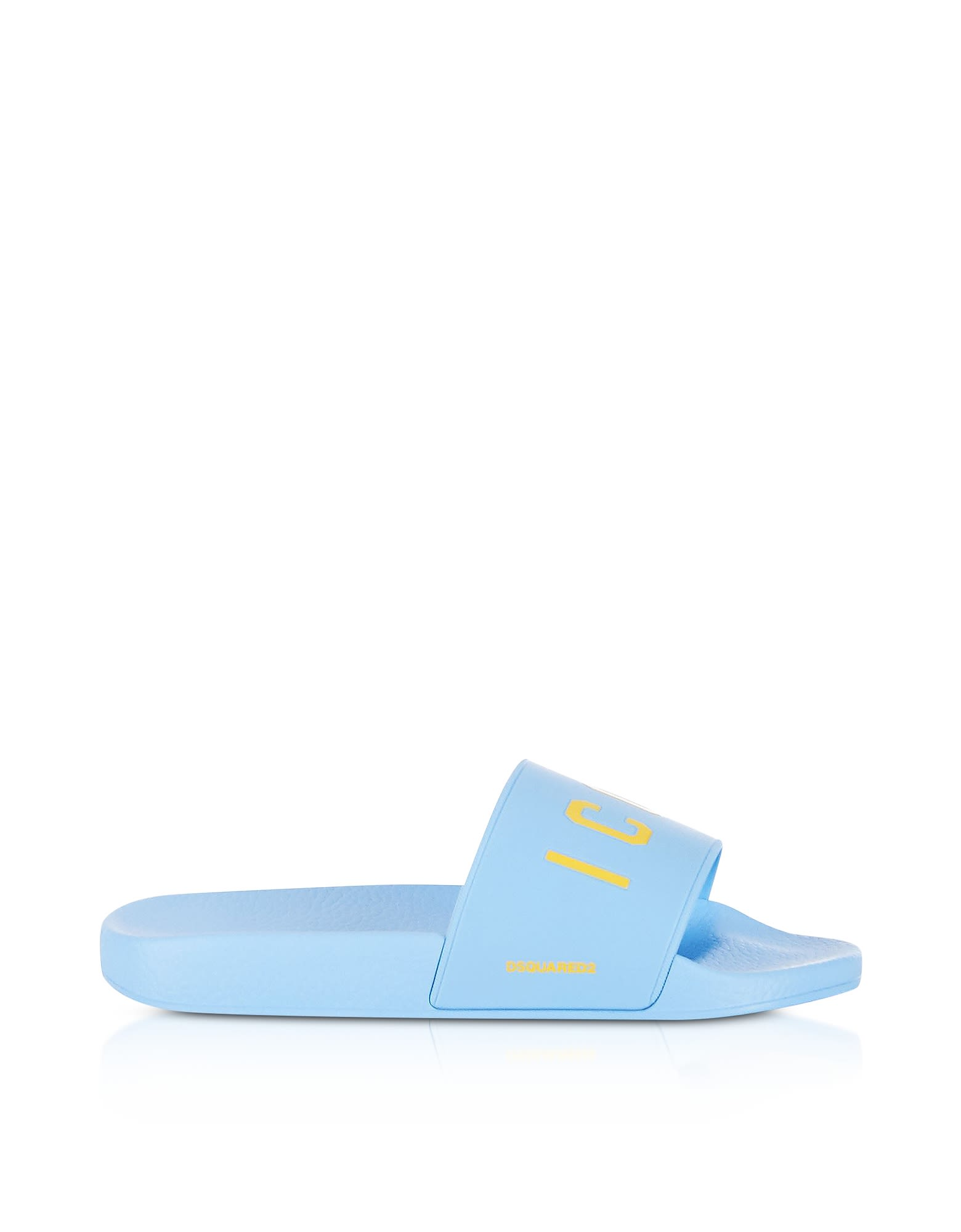 Dsquared2 Icon Sky Blue Rubber Slide Sandals