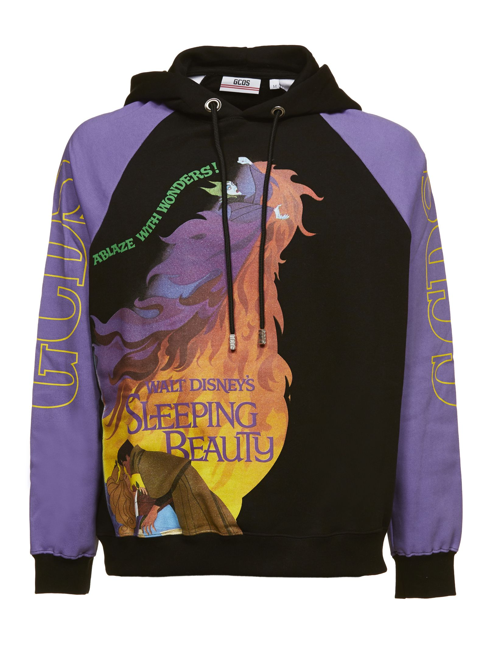 GCDS Sleeping Beauty Hoodie in Black