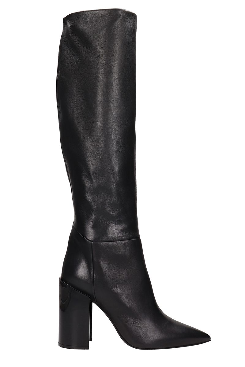 ARCOSANTI Black Leather Boots