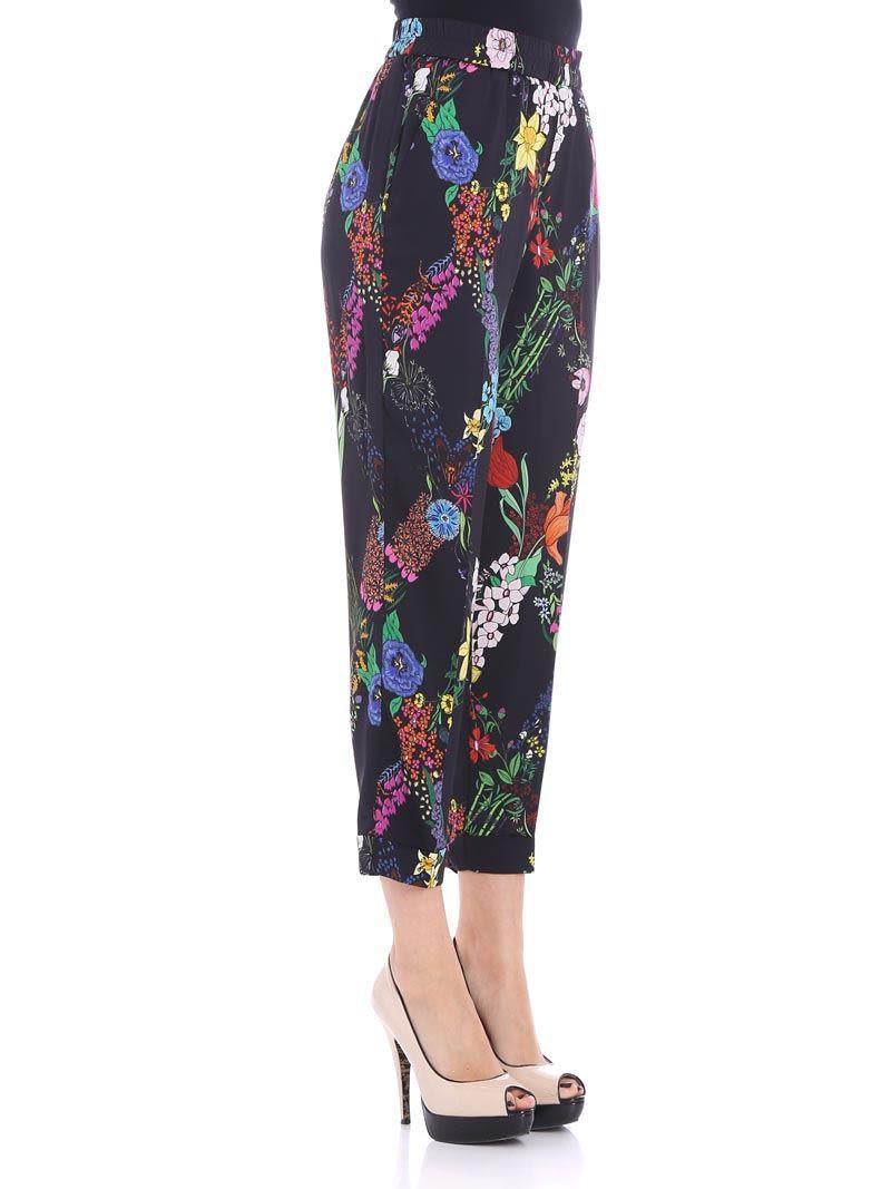 Black floral trousers Ballantyne 7JVwhhe