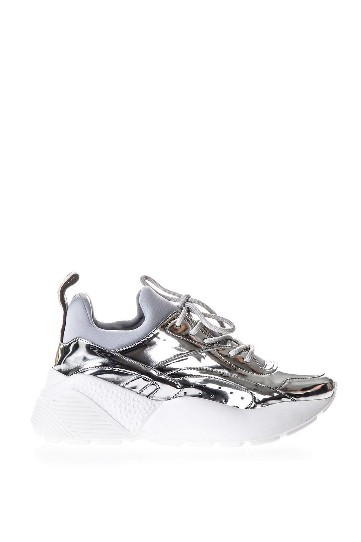 Stella McCartney Eclypse Silver Ecoleather Sneakers
