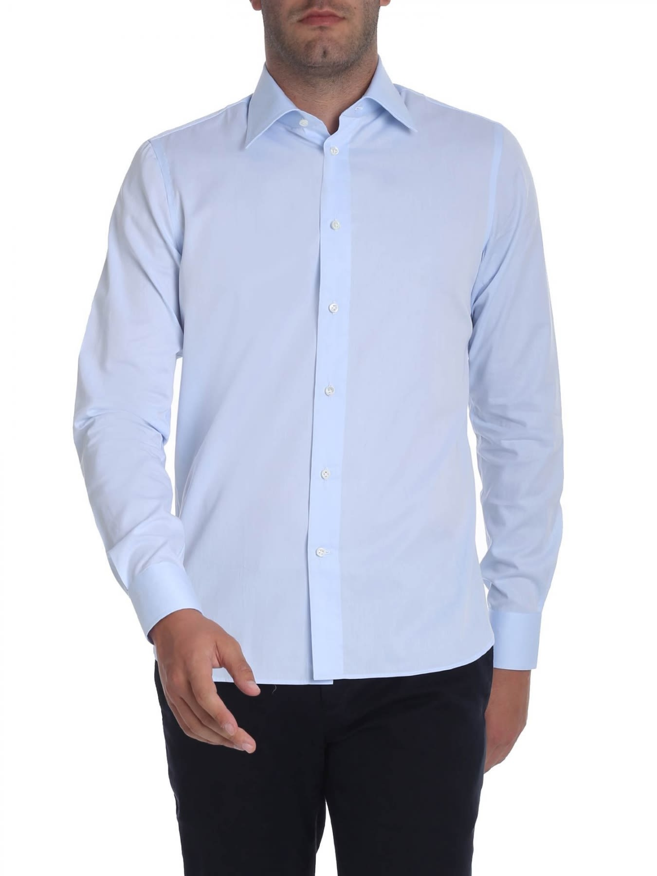 G. INGLESE Cotton Shirt in Heavenly