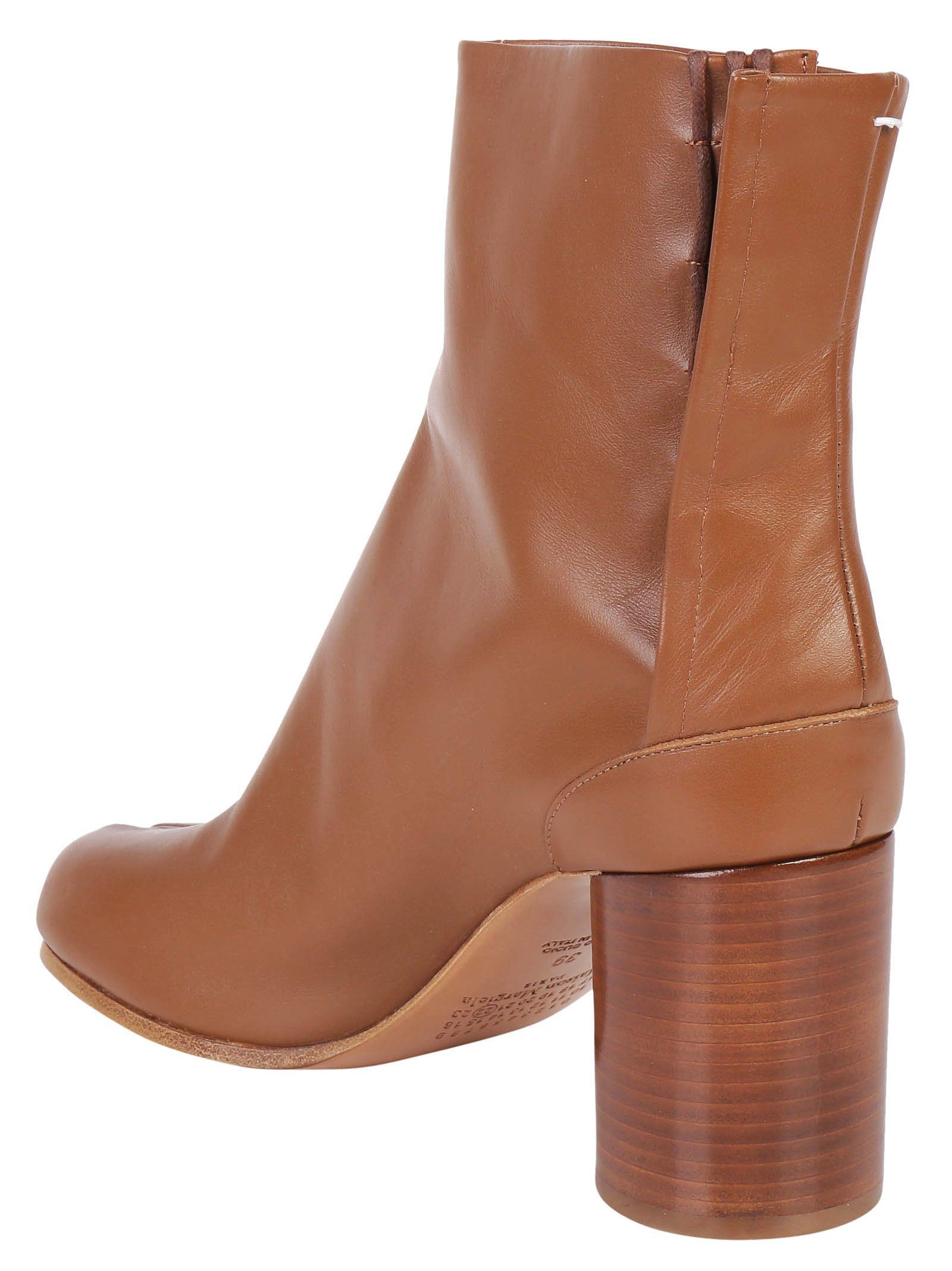 Beige Leather Tabi Boots Maison Martin Margiela 8SgTUjL