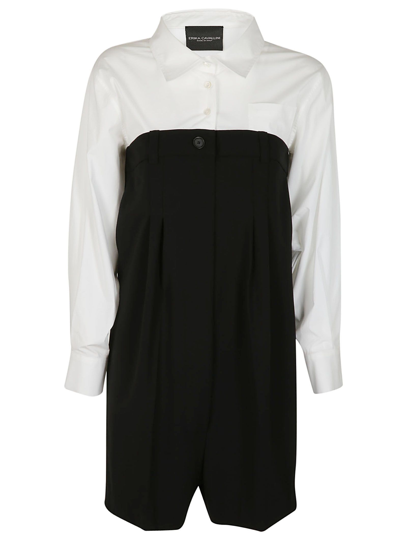 Loose Fit Play Suit, Nero/Bianco