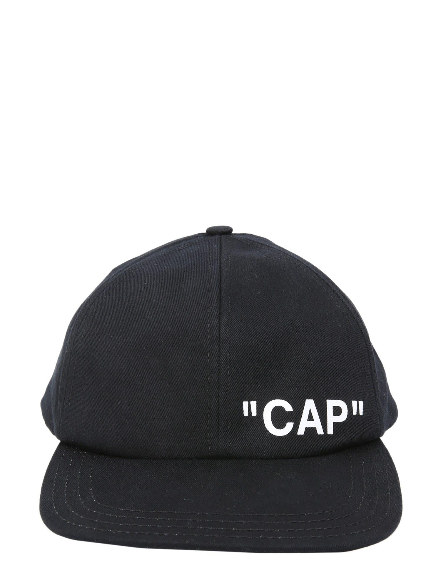 OFF-WHITE QUOTE BASEBALL CAP
