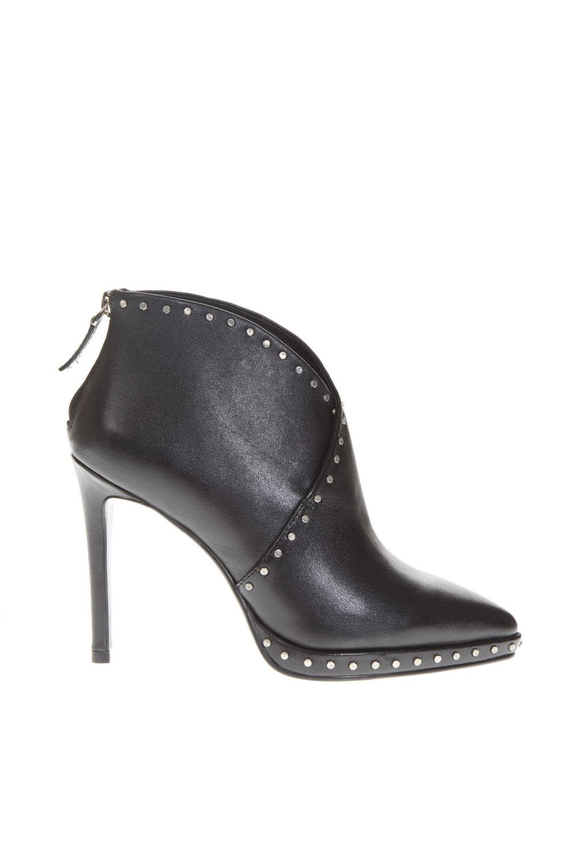 LOLA CRUZ Black Leather Booties