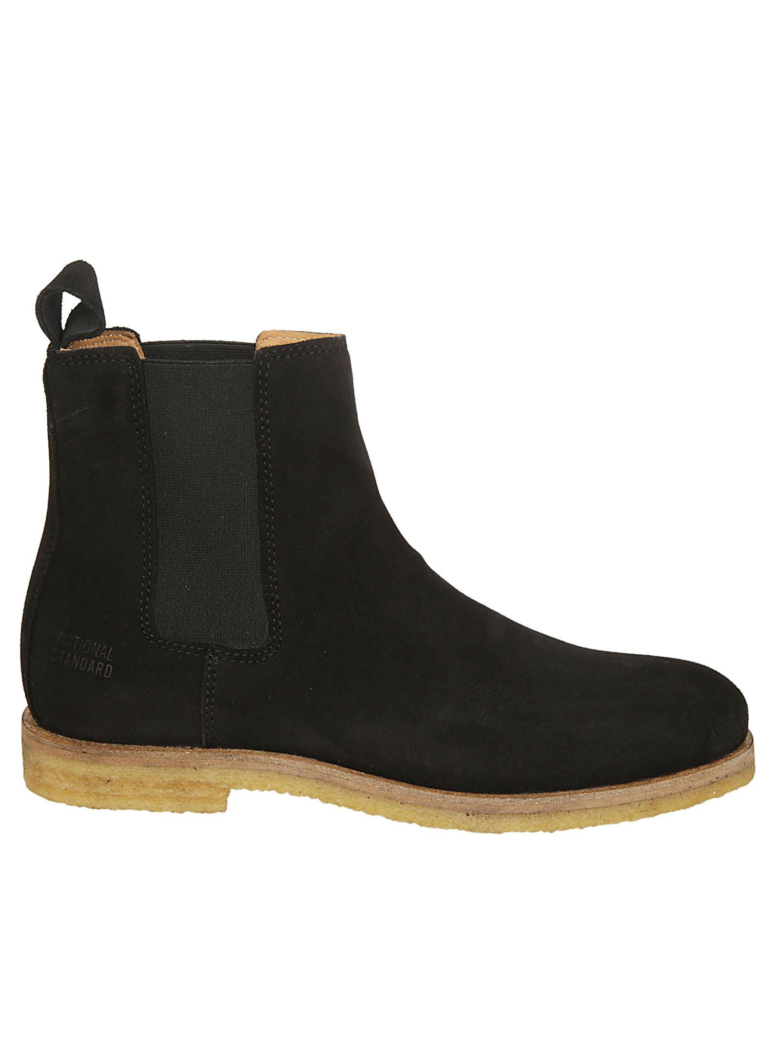NATIONAL STANDARD Elasticated Side Ankle Boots in Nera