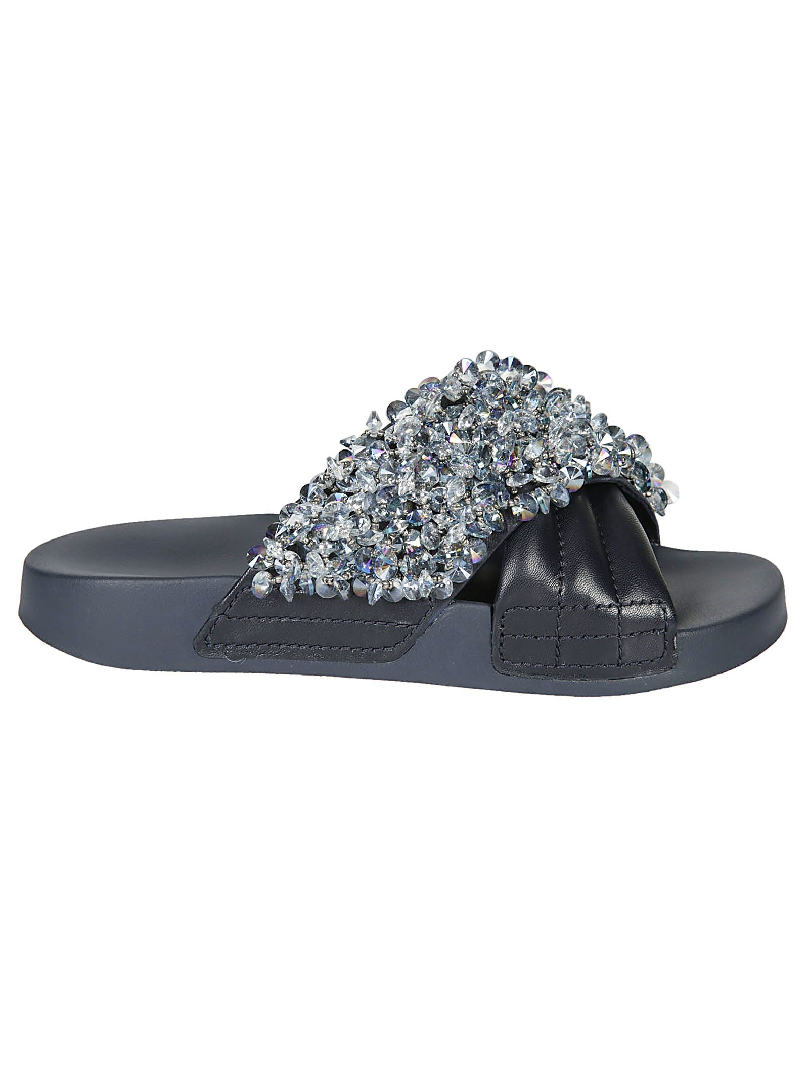 Sneakernews Tory Burch Crystal Embellished Sliders Sale Manchester foLx53KJJ